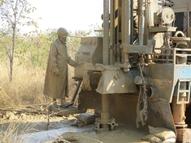 Drilling on a farm in Zambia