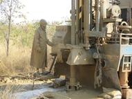 Drilling on a farm in Zambia