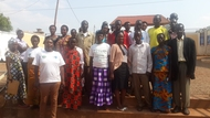 Sandrine (Trainer) and farmers who have been trained on CSA