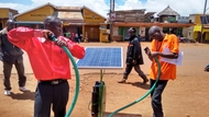 Demonstration being set-up by Solar Now in Kapchorwa