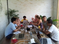 Akvo SE Asia & Pacific team at work during team days in January 2016