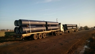 First pipes arriving on site 7-6-2015