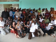 All 46 participants of the training in Kinshasa