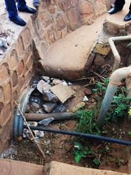 Water supply lines into one of Kanombe's DMAs