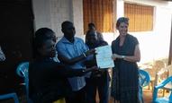 The Kibwezi farmer group receives their Global GAP certificate