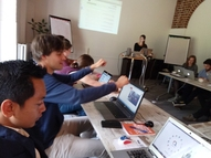 In the middle of training from AKVO. Leuk!