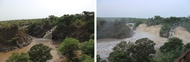 The Awash water falls at the start and end of the wet season in 2017.