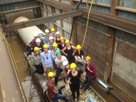 Student excursion visited drilling pit 2
