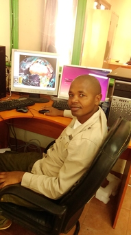 Henry YEPer in Naivasha working on the IWRAP toolbox for the GEONETCast dat