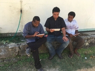 Practicing with the Akvo Flow app in Honiara, Solomon Islands, 2016