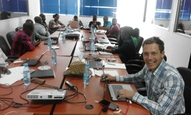 During the training in Maputo
