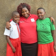 Teacher Lydia-middle with some of the health club leaders