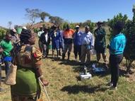 soil sampling training in Mufulira, Zambia