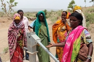 Community Members Standing Around Pump During Practical Training, Dire Dawa