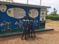 A brand new sanitation block is officially opened in the Kuoyo school
