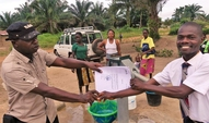 ZOA officially handing over hand pumps to school administration