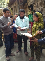 Left: Country Director Riad Mahmud visiting a local Womens Water Platform