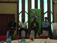 Panelists from SNV, Conservation Agriculture,Hivos and AMIRAN