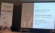 Presenting at the sustainable agriculture conference