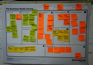 Business model canvas by one of the participant groups