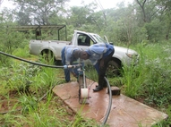 Carrying out Test pumping on Borehole