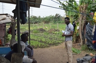 discussion with urban farmer Hamidou