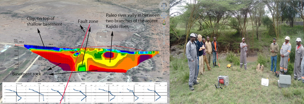 ISGEAG 1st geophysical field experiment in Kajiado