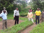 EWA partners exchange visit to Eco-san and Moringa