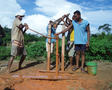Safe water supply by low cost manual drilling