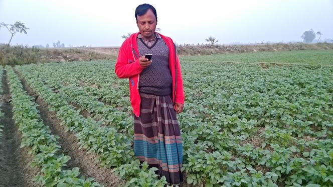 A Farmer read massage to send GEOPOTATO.