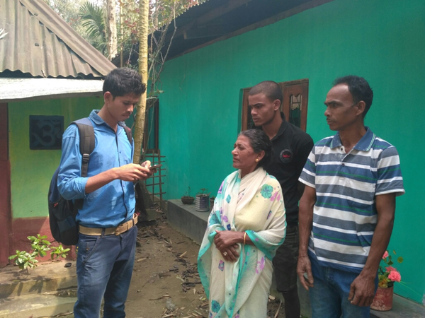 Household survey in Balijan Tea Estate