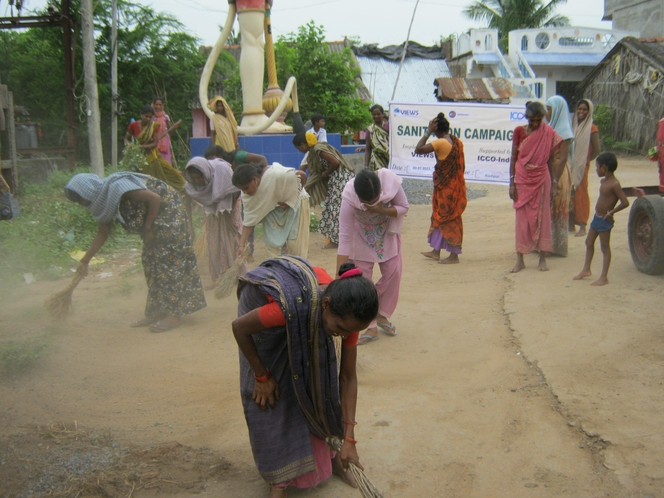 village cleaning campaign