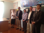 Honored guests visit EE school in Karakalpakstan