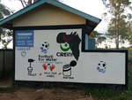Football for Wash branded walls